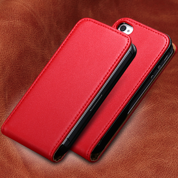 Genuine Leather Vertical Flip Mobile Phone Case For Appl iPhone 4S 4 4G Ultra Slim Korean Style Cover For iPhone 4S Shock Proof(China (Mainland))