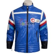 2016 newest customized men leather jacket My Chemical Romance Gerard Way jacket blue motorcycle leather jacket (China (Mainland))