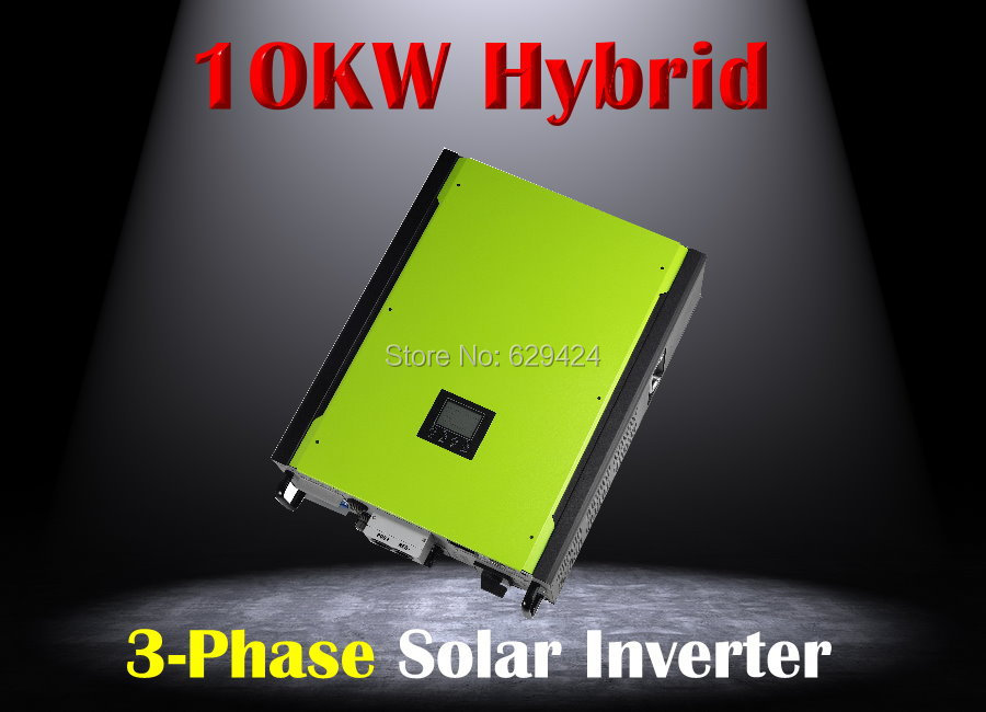 3 phase hybrid solar inverter 10kw grid tied solar + off grid grid solar with battery bank up(Taiwan)