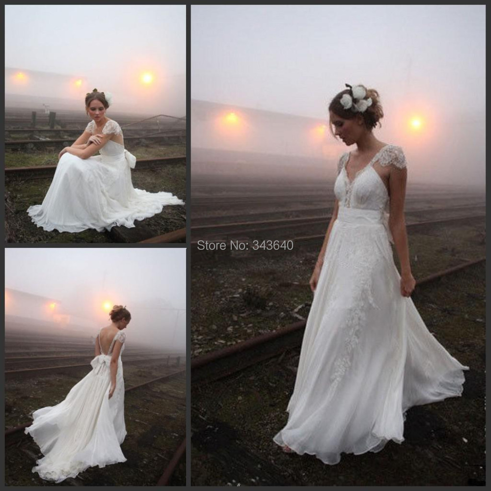 Beach Wedding Dresses Size 16 : Beach wedding dress bridal gown custom made size