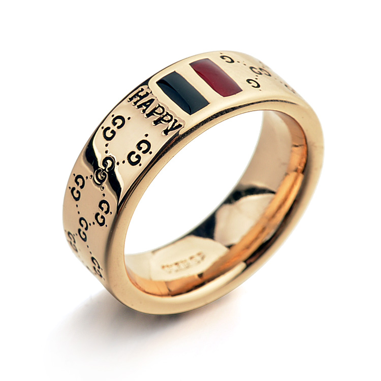 Top Quality 18K Rose Gold Plated Zinc Alloy Men Women Happy Rings Fashion Jewelry Wholesale(China (Mainland))