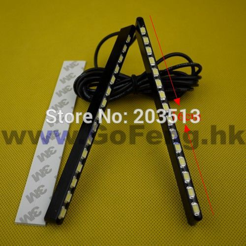 2Pcs/lot 2014 new type 16CM DRL 5630 chip 15 smd High power Bright Car Auto Tail Backup Reverse daytime running light(China (Mainland))
