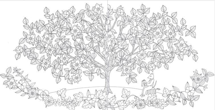 1000 Bilder Zu Tree And Leaves Coloring Auf Pinterest