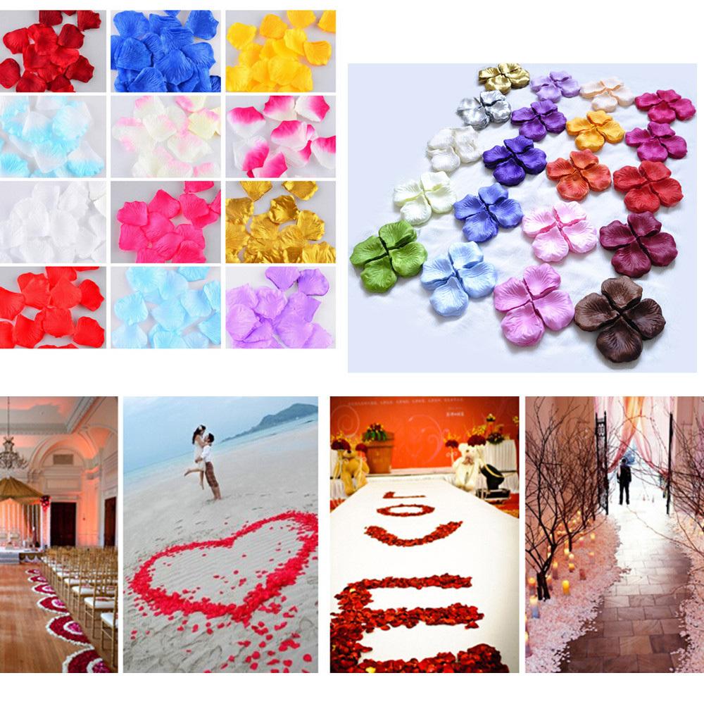 1000 Pcs Artificial Flower Silk Rosy dried Wedding flower petals wedding Accessories for wedding decoration(China (Mainland))
