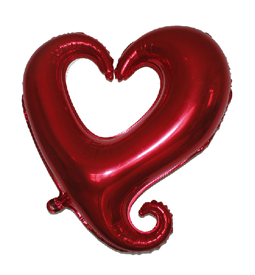 20pcs 18inch I Love You Hook Heart Balloons Decorative Foil Balloon For Wedding Party Decoration Valentine'S Day(China (Mainland))