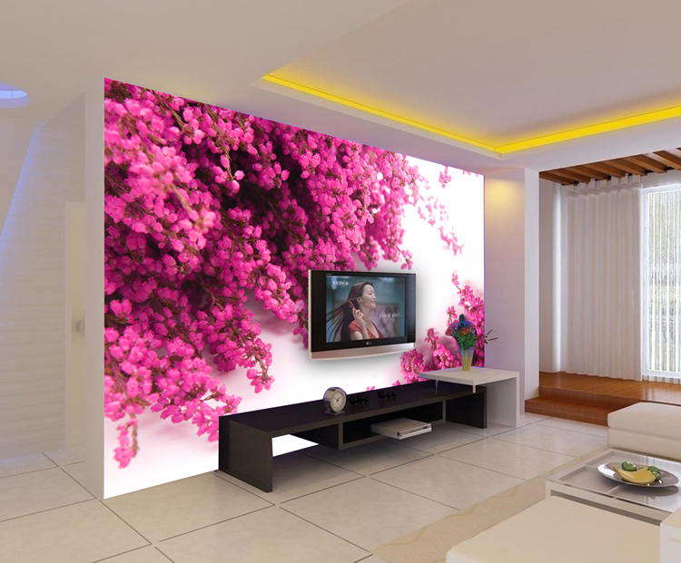 art wall stickers Mural sofa background wallpaper tv wall background wallpaper 3d three-dimensional small flower