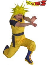 Free Shipping Dragon BallZ Son Goku Super Saiyan KongFu Uniform Anime Cosplay Costume(No Shoes)