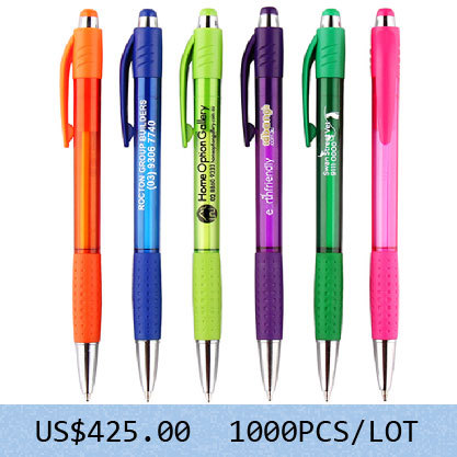 [Free Logo + Free Shipping]1000pcs/lot  6 color 80129 High quality promo advertising logo customized  Ballpoint Pen- Germany ink<br><br>Aliexpress