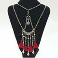 big chunky necklaces 2016 leather cord choker collar indian necklace boho collier ethnique indian tribal jewelry maxi necklace