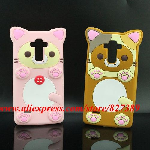 For LG G4 Stylus H630 /G Stylo LS770 Case Bud Bear Cos Cat Paw Silicon Soft Cell Phone Back Skin Cover Case 5.7''(China (Mainland))