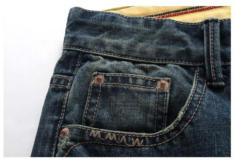 men denim shorts detail 1
