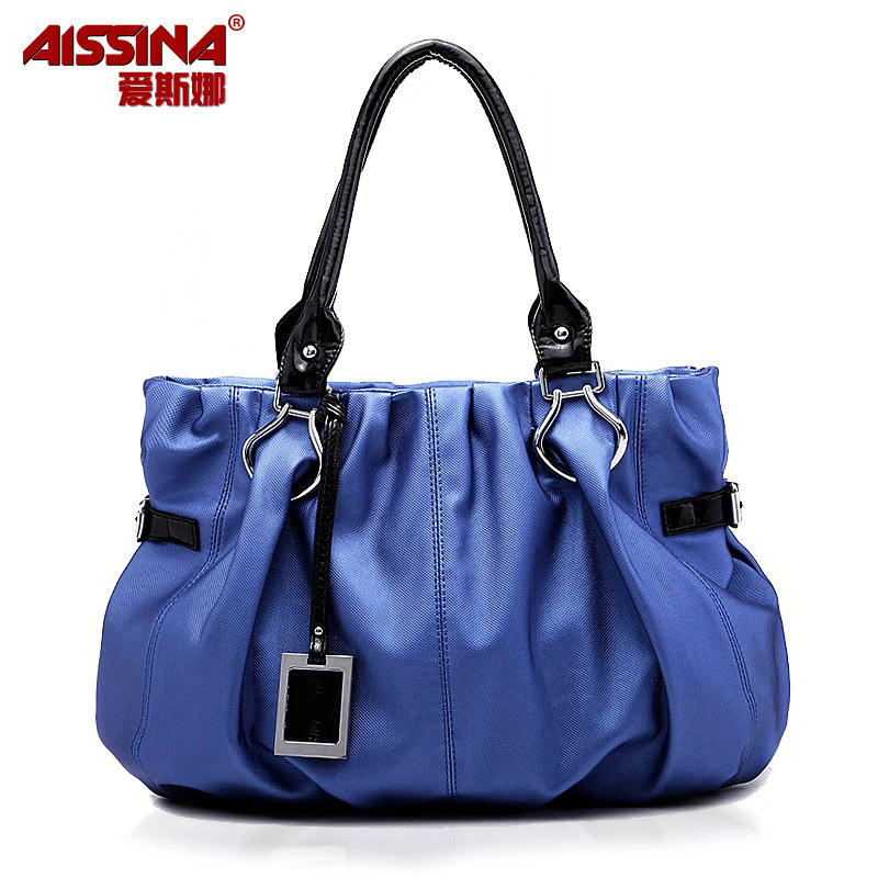 2012 pleated women's bag fashion fabric bags shoulder bag handbag