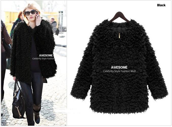 Black Fake Fur Coats