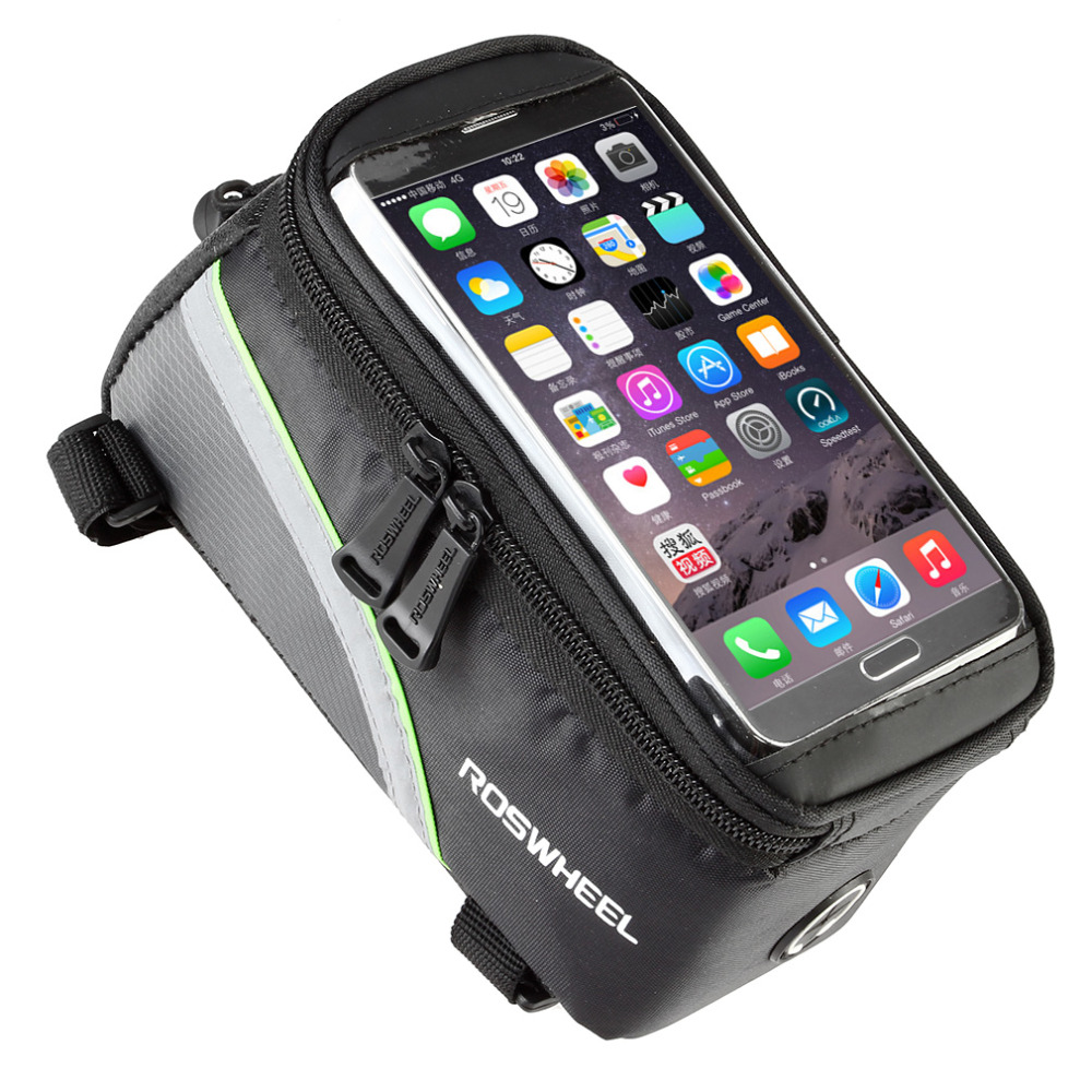 """ROSWHEEL 4.8"""" 5.7""""Cycling Bike Bicycle bags panniers Frame Front Tube Bag For Cell Phone MTB Bike Touch Screen Bag free shipping(China (Mainland))"""