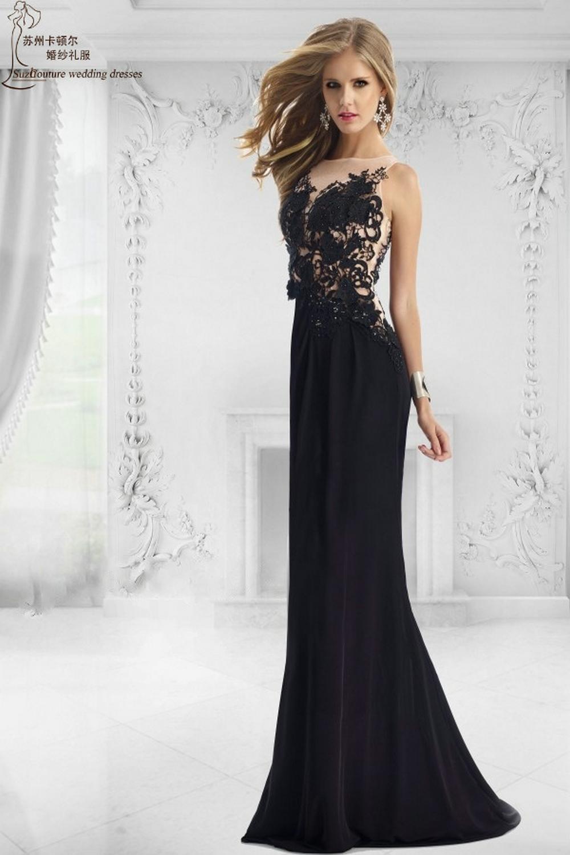 Black Mermaid Prom Dress 2015 Pm1517 Elegant Long Prom