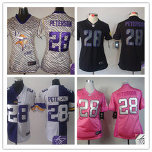 Signature 2016 Women Ladies Minnesota /s, 5 Teddy Bridgewater 28 Adrian Peterson 84 Cordarrelle Patterson camouflage(China (Mainland))