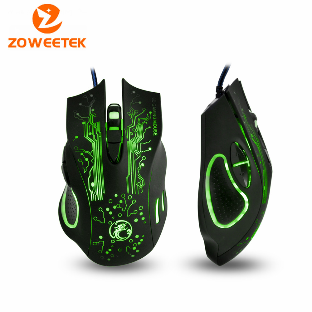 Zoweetek New 2016 Estone x9 2400DPI LED Optical 6D USB Wired game Gaming Mouse gamer For PC computer Laptop(China (Mainland))