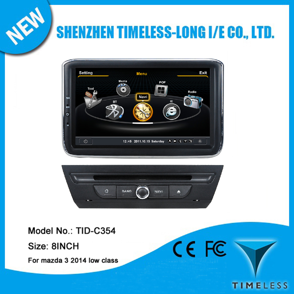A8 Chipset 8Inch Touch Screen Car DVD For Mazda 3 2014 With GPS Navigation 3G Wifi BT Radio TV 20 Dics Playing Free Map(China (Mainland))