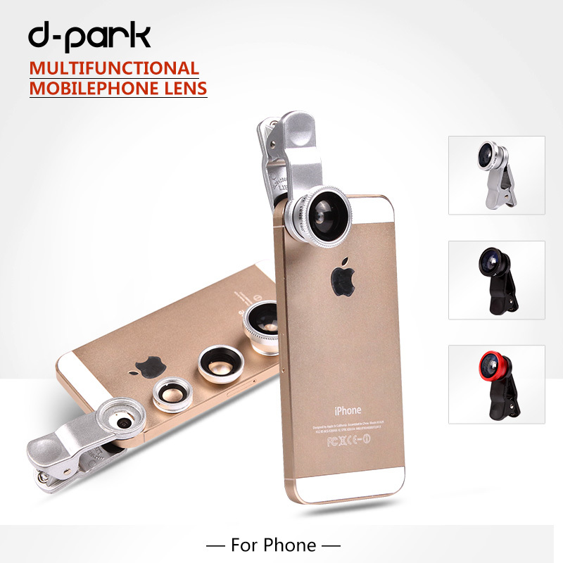 D-park Universal 180 Fisheye + Wide Angle+Macro Mobile Phone Camera Lens Samsung Galaxy S4/Note 3, iphone5 5G 5S / iphone6 - dpark Official Store store