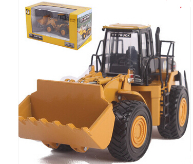 Huayi alloy engineering car big forkfuls alloy model bulldozer toy car model(China (Mainland))