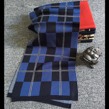 2016 New Winter Wool Men Scarf Thick Warm Tartan Scarves Classical Contrast Plaid Bandana High Quality