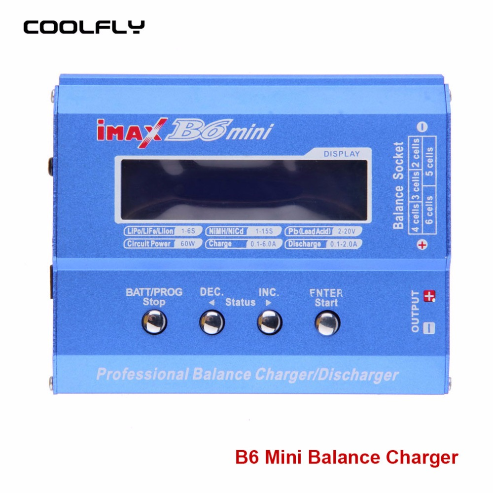 B6 Mini Professional Balance Charger/Discharger For RC Battery Charging<br><br>Aliexpress