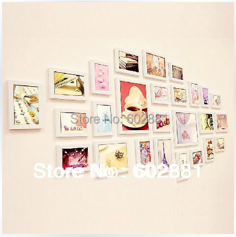 26pcs photo frame for wall art home decor diy creative combination wall mounted photo frame set - Creative home decorations set ...