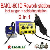 free shipping 110V/220V BAKU BK-601D LED Digital Display Hot Air SMD Rework Station, hot air solder station BGA rework