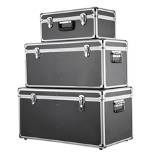 iKayaa 3PCS Multi-Purpose Aluminum Tool Boxes Case Lockable Storage Boxes Container Large/Middle/Small Size With Handles(China (Mainland))