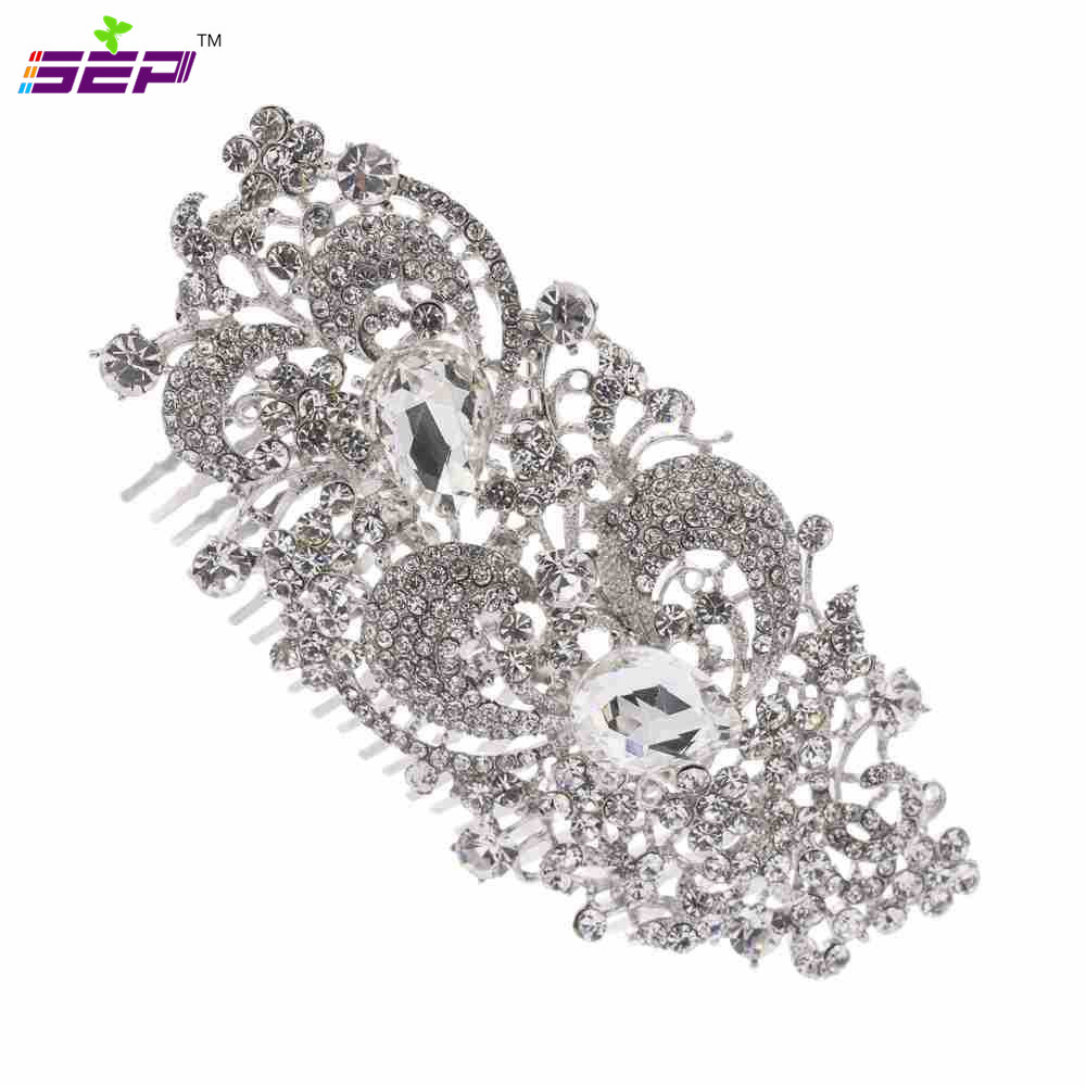 Clear Rhinestone Crystals Hair Combs Hairpins Bridal Wedding Hair Jewelry Accessories FA2827(China (Mainland))