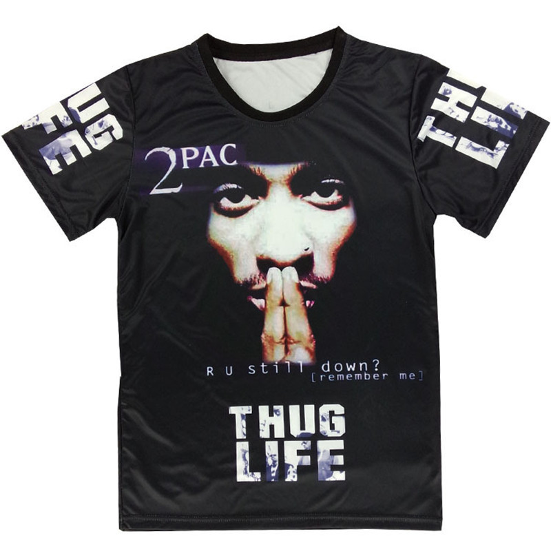 2015 newest 3d t shirt tupac 2pac thug life classic. Black Bedroom Furniture Sets. Home Design Ideas