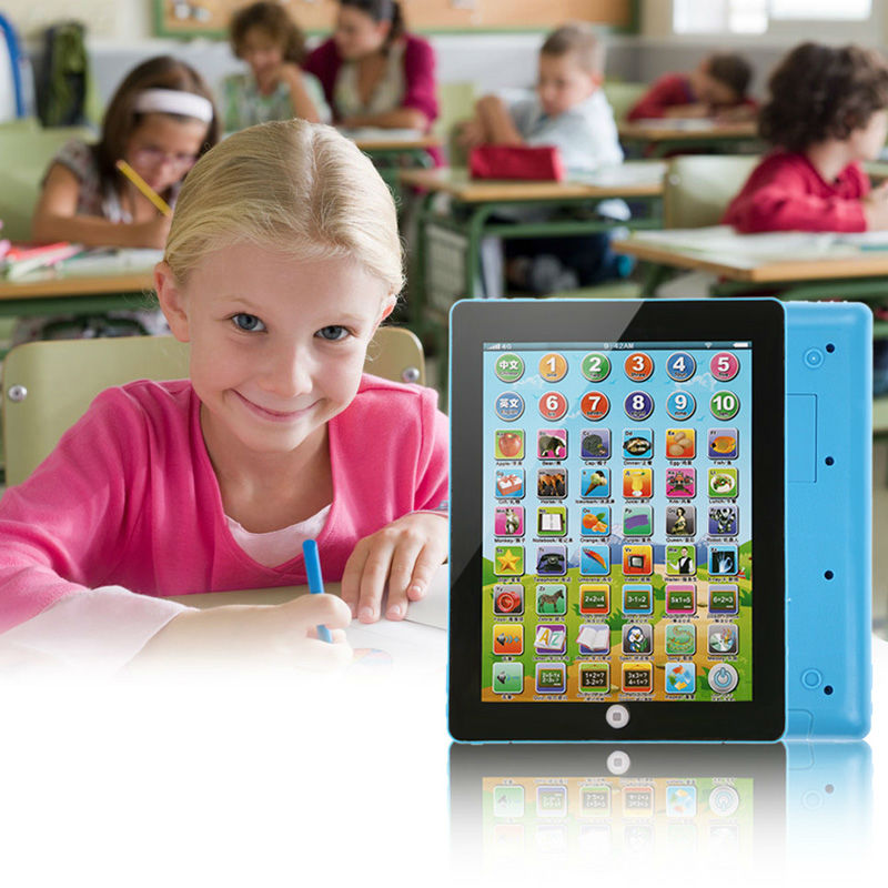 Plastic Tablet Pad Computer Kid Children Gift Learning English Educational Teach Machine Toy(China (Mainland))