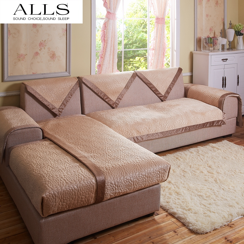 Decorative sofa cover sectional modern slipcover tan beige for Decorative furniture covers