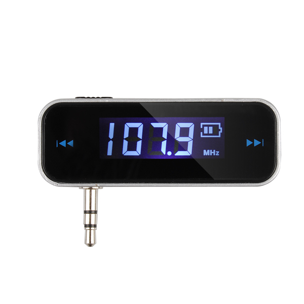 New Mini Wireless Transmitter 3.5mm In-car Music Audio FM Transmitter For iPod Mobile for iPhone Electronic Car MP3 Player(China (Mainland))