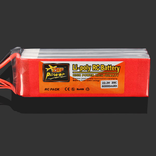 Wholesale ZOP Power 22.2V 6000MAH 35C Lipo Battery XT60 Plug<br><br>Aliexpress