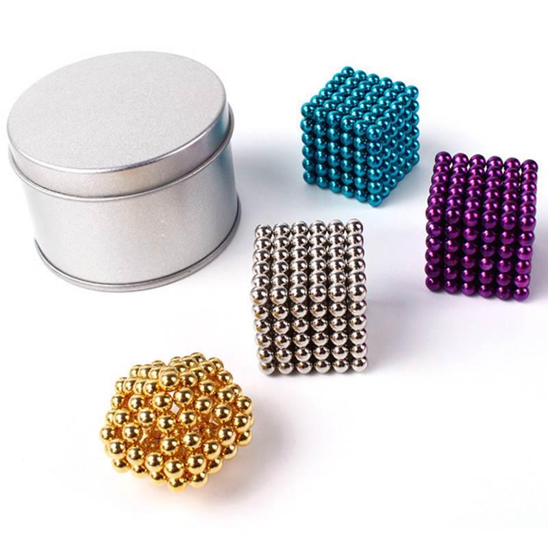 Magnetic Balls Ndfeb 5mm 216 Magic Magnet Cube Puzzle Cubo Magico Education Toys Metal Box+Bag+Card(China (Mainland))