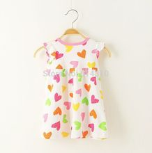new summer 100% Cotton dress baby  embroidered dresses children's cartoon design dress baby clothing(China (Mainland))