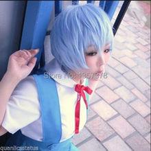 bjc 00379 Neon Genesis Evangelion AYANAMI REI Short Blue Cosplay Wig