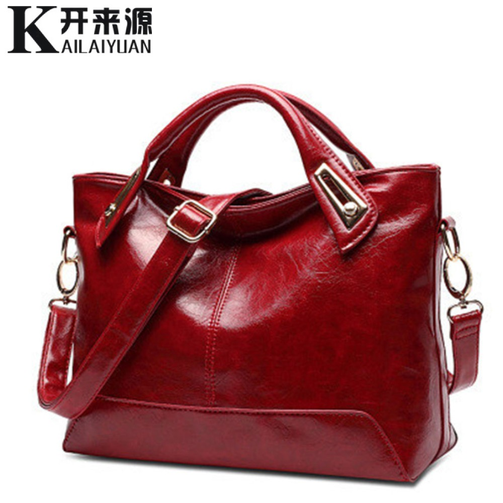 100% Genuine leather Women handbags 2017 New Square Cross-Section Portable Shoulder Motorcycle Bag Fashion Vintage Messenger(China (Mainland))