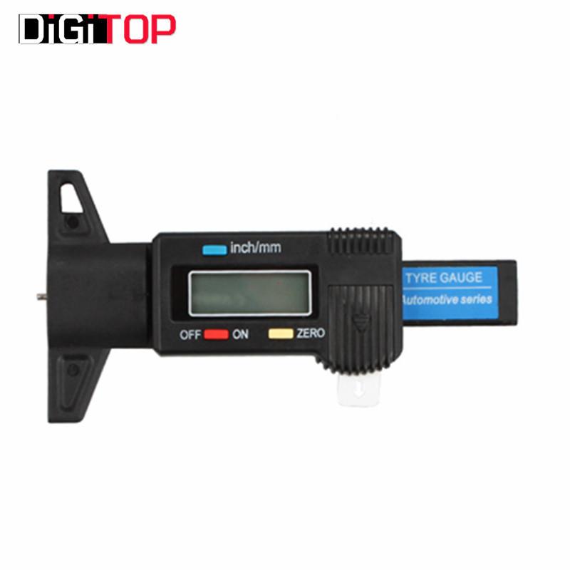 Car Tyre Digital Tread Brake Pad Shoe Gauge Depth Tester Guage Black 0-25mm / 0-1 inch - DIGITOP Online Supplier store