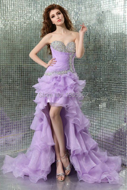 2015Sexy High-low Prom dress Ball gown Evening dress Bridesmaid dress Wedding gown(China (Mainland))