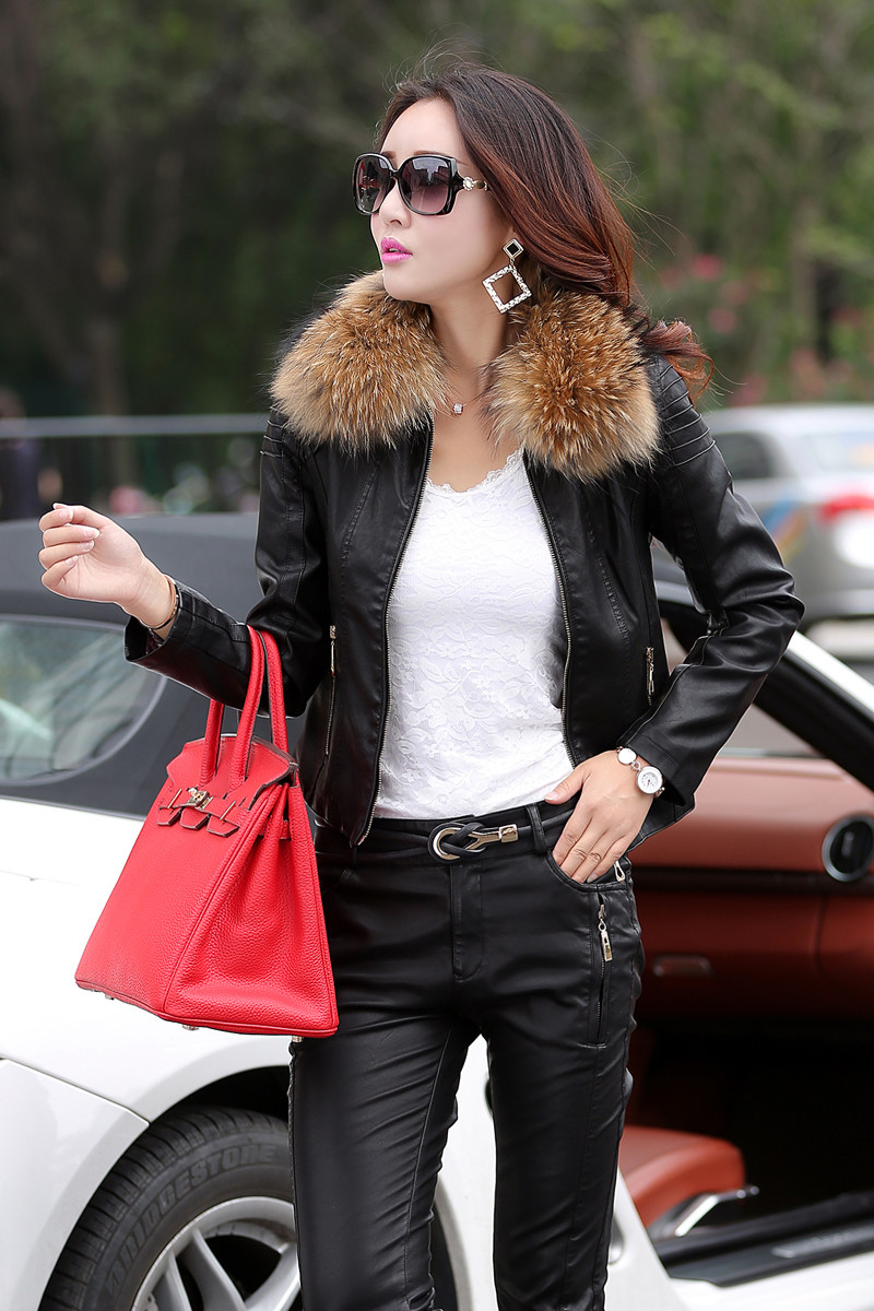 Leather Jacket Women Fashion Slim Fit Short Suede Coat for Female Motocycle leather clothes for lady Outerwear Puls Size 930