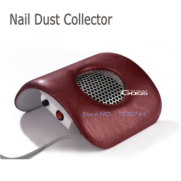 Beauty GaGa 110V & 220V EU Plug Nail Art Manicure Salon Equipment Dust Suction Strong Fan Nail Dust Collector Brown with Texture(China (Mainland))