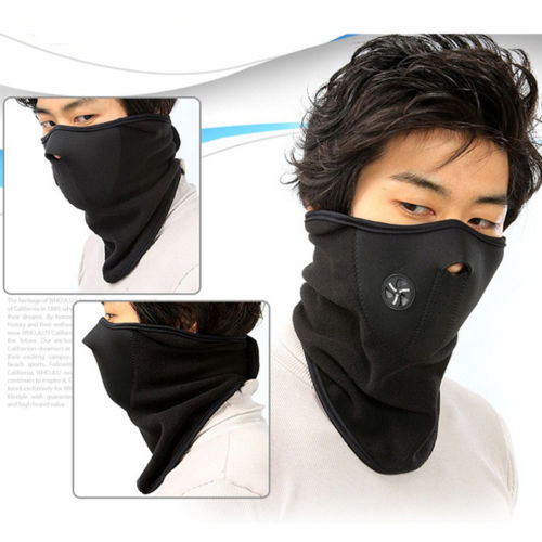 Ski Snowboard Motorcycle Bicycle Winter Sport Face Mask Neck Warmer Warm blue SX()