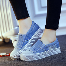 Women shoes Summer Canvas Shoes Denim 2016 Creepers Women Casual Shoes Platform Chaussure Femme Walking Shoes Zapatos Mujer