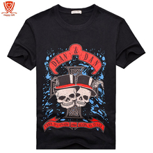Buy New Fashion Brand Clothing 3D Skull Print T Shirts O Neck Short Sleeves Boy Cotton Men t-Shirt Casual Man Tees Mens Tops for $16.19 in AliExpress store