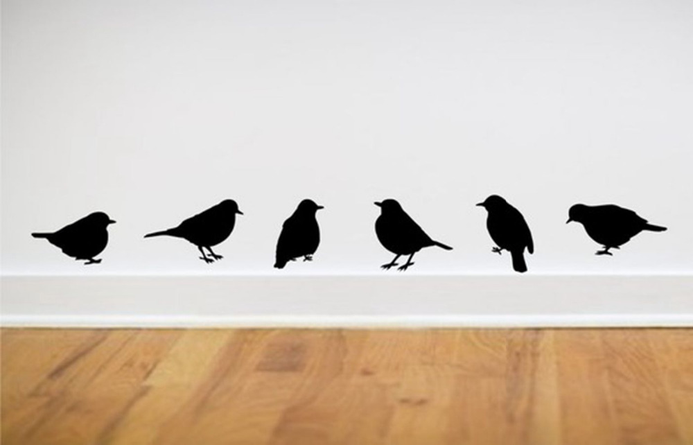 """wall stickers modern home decor - bird wall stickers ,one set = 6 pieces(App 3*5"""" each) free shipping,color white pink green..(China (Mainland))"""