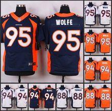 HOT Elite men Denver Broncos 95 Derek Wolfe 94 DeMarcus Ware 88 Demaryius Thomas 58 Von Miller 43 T.J. Ward D-4,camouflage(China (Mainland))