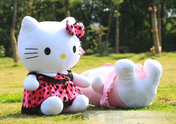 middle stuffed lovely hello kitty toys plush big cat doll perfect gift rose spot coat kitty about 55cm(China (Mainland))