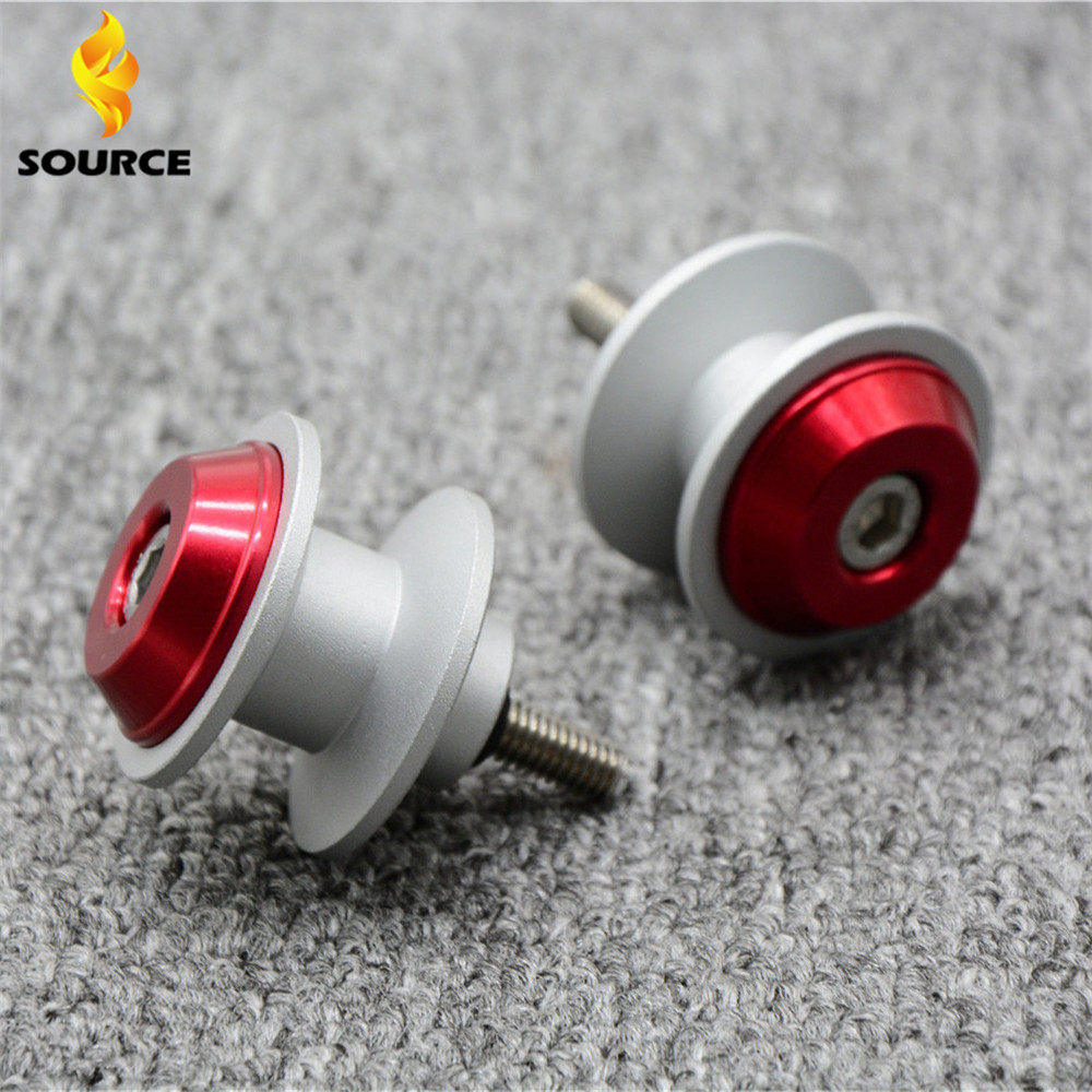 Motorcycle Accessories CNC Screw Red Motorbike Swingarm Sliders Spools 6MM 8MM 10MM For Kawasaki Ninja 200 ZZR1400 ZZR 1400(China (Mainland))